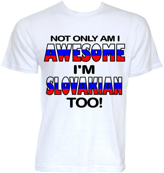 Slovaque T-shirts Cadeaux Homme Drôle Cool Novelty Slovaquie Femme Blague Drapeau T-Shirt