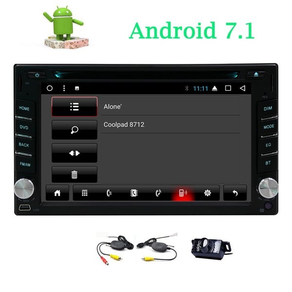 6.2'' Double Din in Dash Car DVD Player Android 7.1 Car Stereo Entertainment System Bluetooth USB MP3 Radio Video Wifi Mirrorlink