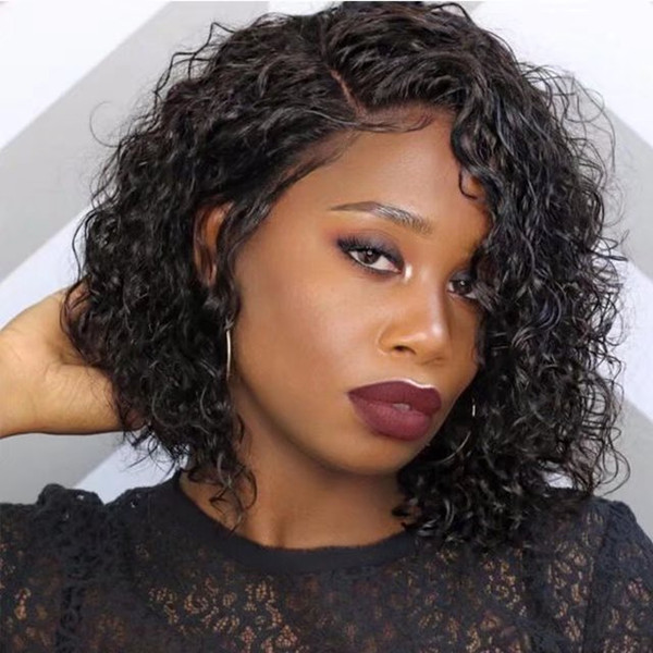 Sexy Curly Human Hair Lace Wigs For Black Woman Glueless Lace Front Human Hair Wigs With Baby Hair Pre Plucked Hairline Full Lace Curly Wig