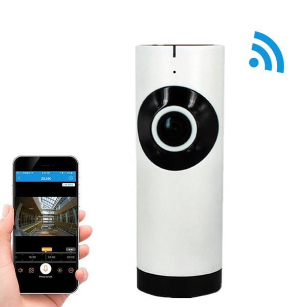 IP-камера 180 градусов панорамный рыбий глаз объектив HD 720P Wi-Fi двухстороннее аудио Радионяня крытый домашней безопасности WIFI камеры видеонаблюдения IP-камера