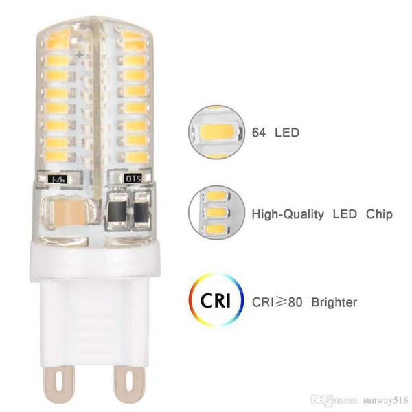 G9 6W 9W LED Bulb Lamp SMD3014 AC 200V 240V Sillcone LED Corn Bulb 64LEDs 104LEDs Crystal Chandelier COB Spot Light Warranty 2Years