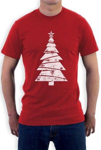 Grande albero di Natale bianco angosciato - Xmas Gift Idea T-Shirt Holidays Clothing