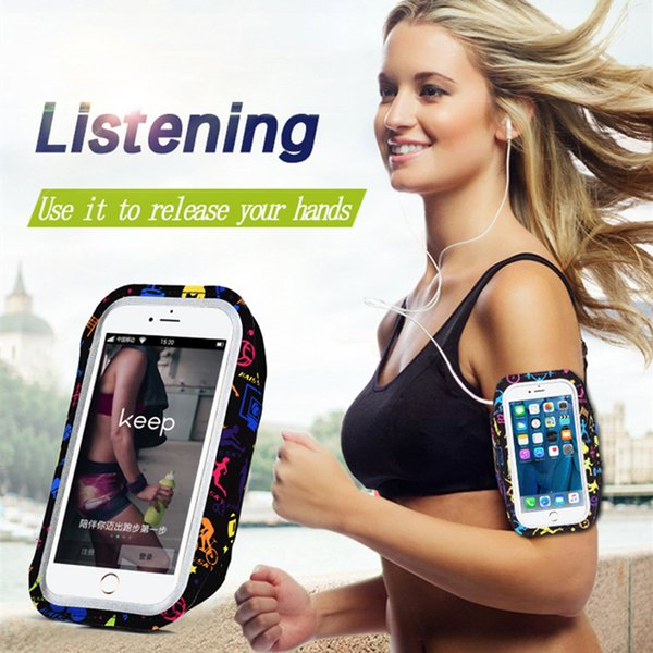 """5.2"""" For S5 S6 S7 Sports Jogging ArmBand Bag for Huawei P10 6 6s 7 8 Phone Holder Universal Running Arm Band Case"""