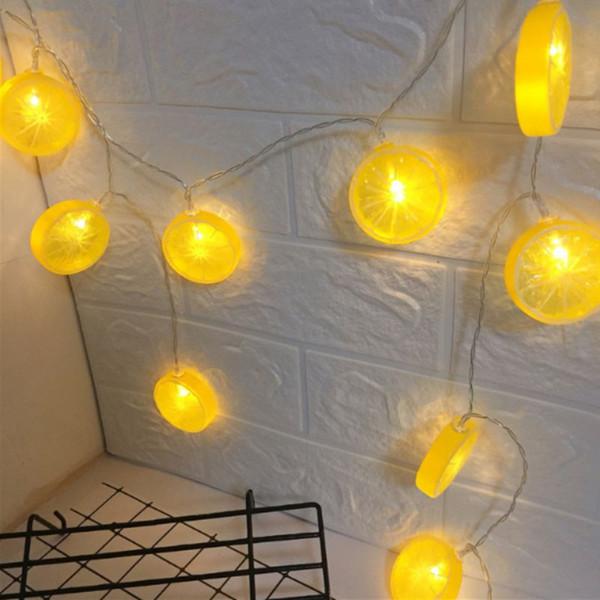 Acheter Citron Forme Vacances Guirlande Lumineuse LED Fête De Noël Bébé  Chambre Décoration Lumière Batterie Boîte Lumières Extérieures De $54.78 Du  ...