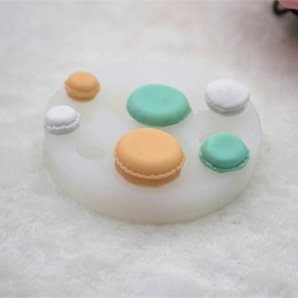 New 6 - hole DIY manual stereo 3d macaroon chocolate biscuit glue silicone mold