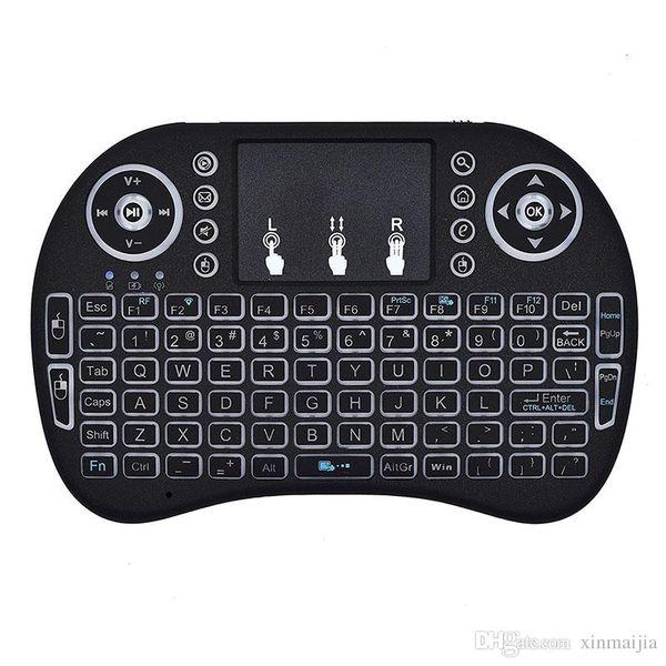 Mini Kablosuz Bluetooth Uzaktan Touchpad Fare / Fare Klavye Tuş PC Android Akıllı TV için 2.4 GHz Şarj Edilebilir