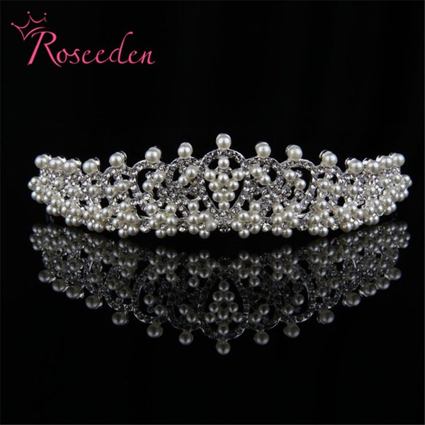 drilling pearls floral bridal tiaras and crowns High quality tiara de noiva hairband Bride crown wedding accessories RE497 S919