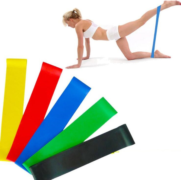 best selling Exercise Resistance Loop Bands Set Fitness Workout and Strength Training 5 Pc Crossfit Yoga Resistance Bands Fitness Equipment Rubber circle