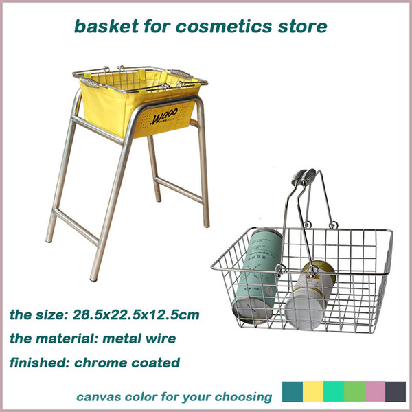 best selling metal wire fruit basket with different canvas chrome coated sewing basket with your logo shopping bakset for makeup