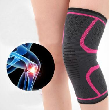 1 Pc/Lot Sports Knee Brace Sleeve Pressure Strap Compression Fit Support for Soccer Basketball Running knee pad