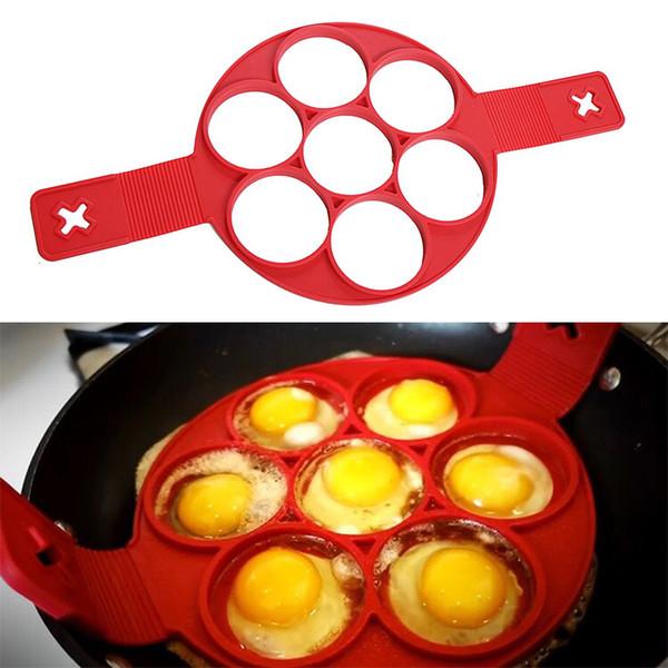 2018 Hot Pancake Maker Nonstick Cooking Tool Egg Ring Maker Pancakes Cheese Egg Cooker Pan Flip Eggs Mold Kitchen Baking Accessories
