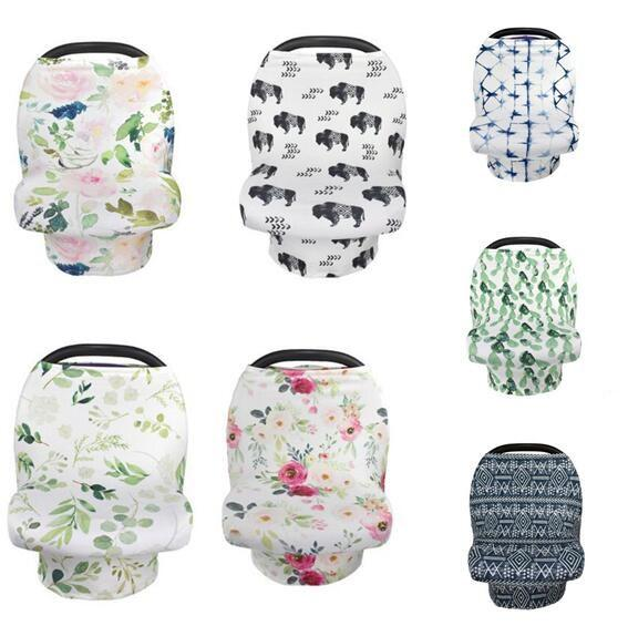 top popular Breastfeeding Nursing Cover Baby Stroller Cover Flower Animal Breathable Covers Multifunction Canopy Kids Care Feeding Cover for Mom Gifts 2019