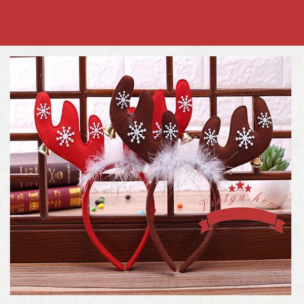 Großhandel Rote Geweih Weihnachten Hoop Buckle Red Horn Haarnadel ...