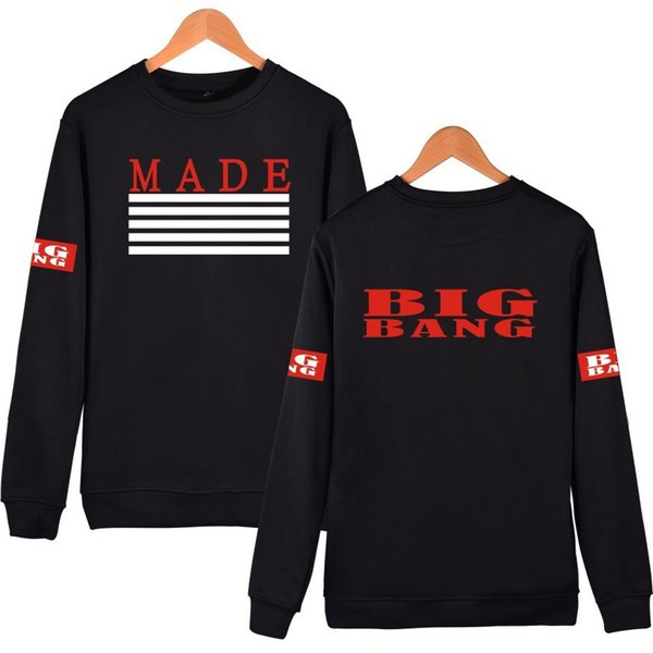 Friday Bigbang Quan Zhilong Sweater MADE Round Neck Sweater 2015 Autumn Clothing Concerts Respond To Aid Service Goods In Stock
