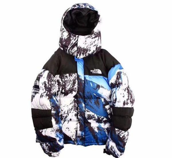 Спорт на открытом воздухе Северная снежная гора с капюшоном пуховик камуфляж пар