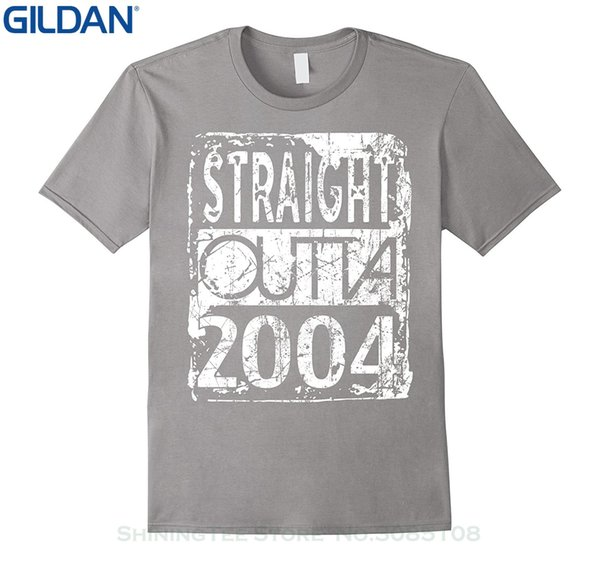 Sconto all'ingrosso Fashion Tshirt Hipster Cool Tops Straight Outta 2004 Funny 13th Birthday T shirt