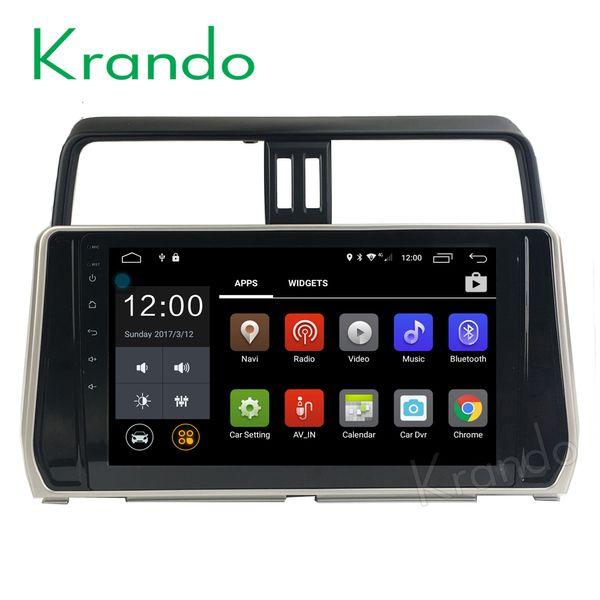 "Krando 10.1"" Android 7.1 car dvd navigation multimedia system for toyota prado 2018 audio radio gps dvd palyer WIFI 3G DAB+"