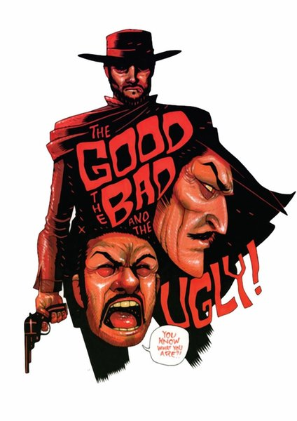 THE GOOD THE BAD THE UGLY MOVIE Art Silk Poster 24x36inch 24x43inch