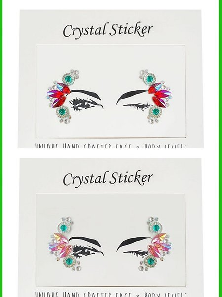 2018 Decent art sparkle gem tattoo decal women's dance party USES DIY eyelet crystals to temporarily decorate a plaster cast