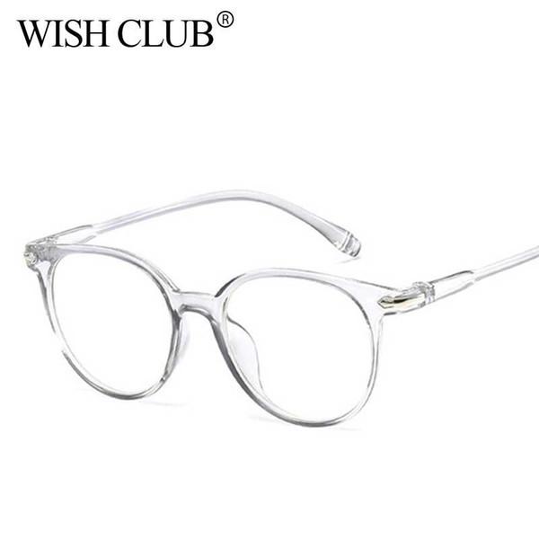274284dc4135c CLUBE DO DESEJO Do Vintage Rodada Óculos Claros mulheres Transparente Lente  óculos de Armação Das Senhoras