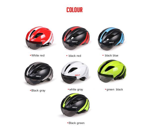 Costelo casque de vélo casque de vélo casque de cycle de carbone avec masque de protection Capacete Ciclismo Casco Bicicleta livraison gratuite