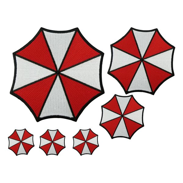Resident Evil Red Umbrella Patch Cartoon Iron On Patches Kids DIY Cute Sewing Embroidered Patches For Clothing