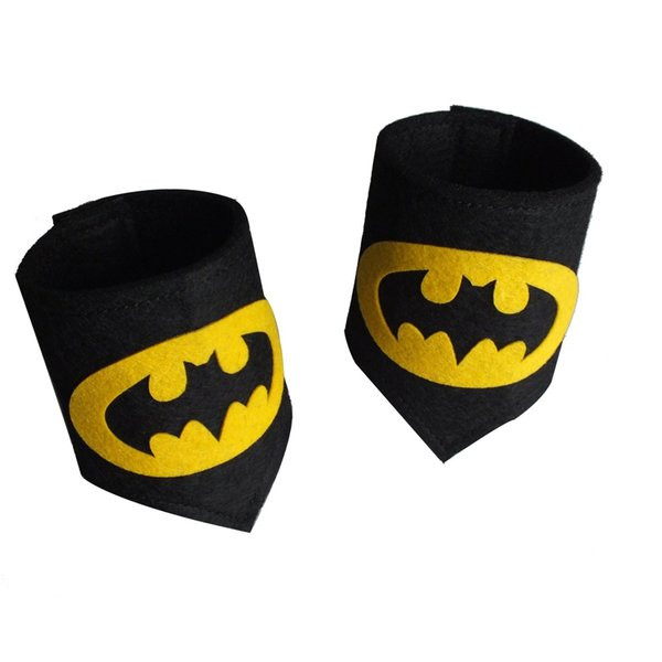 26 styles Kids Superhero Wristband Child Party Holiday Halloween Birthday Favor Felt Wristbands Kids Cosplay Wrist Band