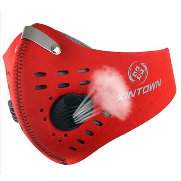 Extérieur Vélo Masque Avec Filtre Demi Casque Visage Poudre De Carbone Anti-pollution Anti Haze Smog Mouth-Muffle PM2.5 Macka