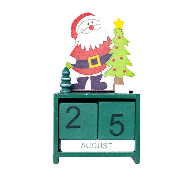 Christmas Mini Wooden Calendar Xmas Ornament Home Decoration Craft Gift New Year Decorations For Home
