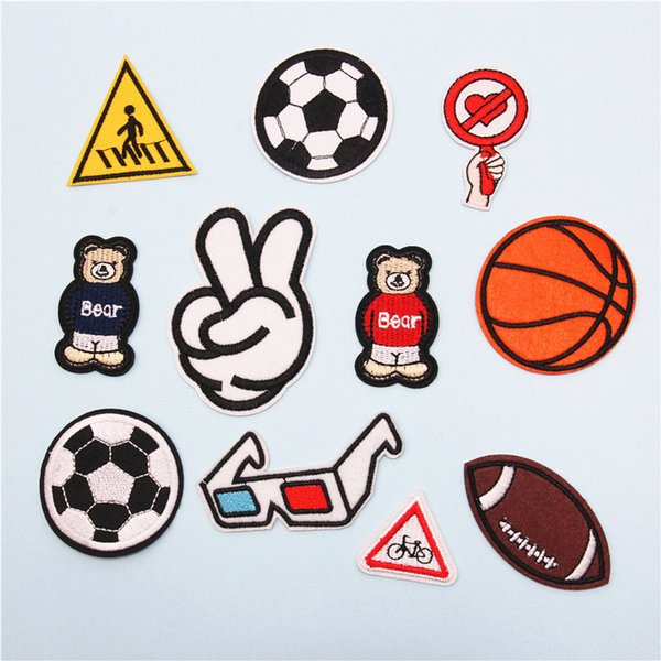 Fashion Applique DIY 3D Iron-on Patches Repair Sew On Patches for Clothing Backpacks Jeans Caps Shoes etc Hook Patch