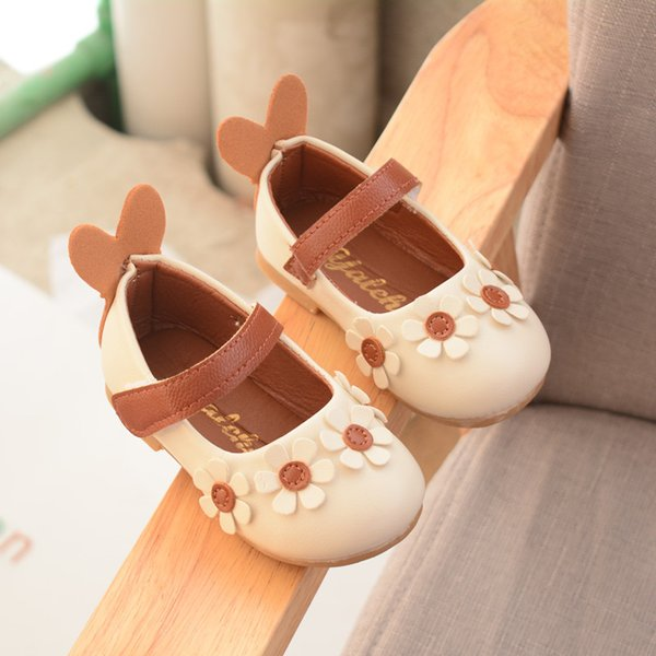 Wholesale fashion cute flower princess shoes girl children spring autumn baby toddler shoes delicate comfortable pu leather shoes kids child