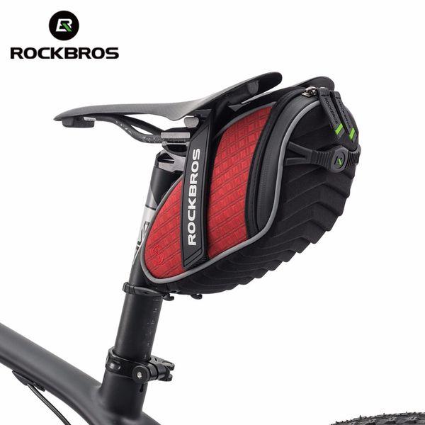 Toptan Bisiklet Arka Seatpost Çantası 3D Kabuk Yağmur Geçirmez Saddlebag Yansıtıcı Bisiklet Çantası Darbeye Bisiklet Çantası MTB Bisiklet Aksesuarları