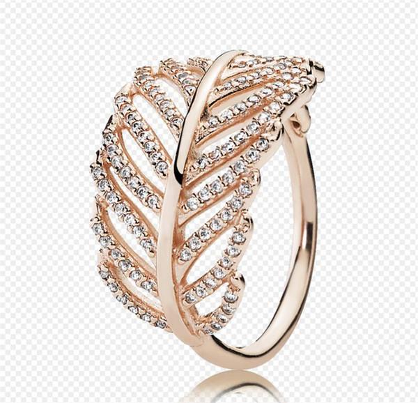 2019 925 Sterling Silver Rings Pandora Engagement Wedding Rings Set