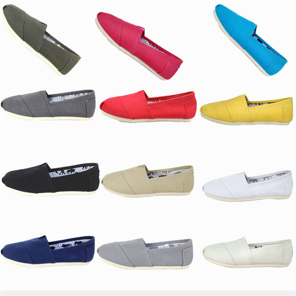 Spring and Autumn 17 colors Leisure Canvas Shoes Female Pedal Lazy Shoes Shallow Mouth Breathable Cloth shoes T3I0309