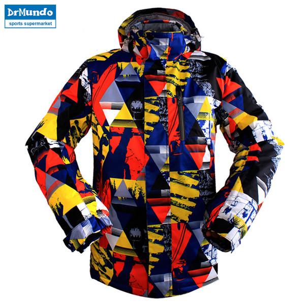 Ski Jacket Winter Snowboard Suit Men's Outdoor Warm Waterproof Windproof Breathable Clothes Camping Windbreakers