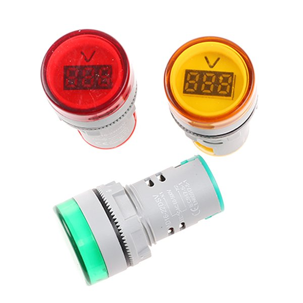 Mini 22MM AC 60-500V LED Voltmeter Voltage Indicator Pilot Light ASS
