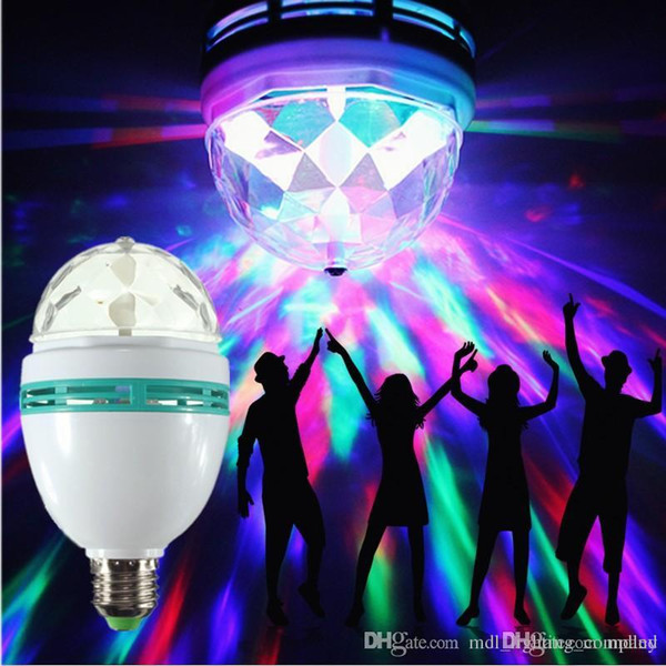 Selbstdrehende Birne RGB LED E27 3w führte das Stadium, das Stadium-Glühlampen AC85-265V DJ bunte Disco-Weihnachtsmagische Lampe für Feiertagsparty beleuchtet