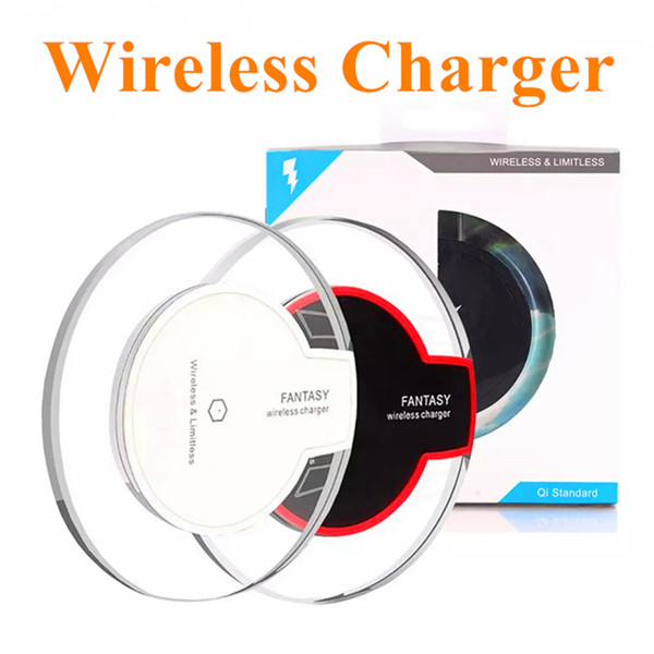 High Quality Qi Wireless Charger Charging For Samsung S6 S7 Edge S8 Plus iphone X 8 Fantasy High Efficiency Pad with retail package