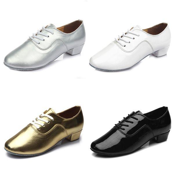 new arrival Brand New Modern boy s Children Men Ballroom Latin Tango Dance Shoes man Salsa heeled 702 black