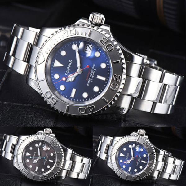 41mm Blue Brown Black Dial Sapphire Glass Romantic Sweet Date window 21 jewels Miyota 8215 Automatic Movement men's Watch