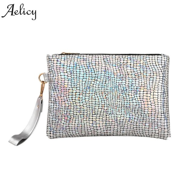 Aelicy High Quality Women Colorful Discoloration Handbag Soft PU Leather Bags Handbags Women Famous Brands Fashion Clutch Purse