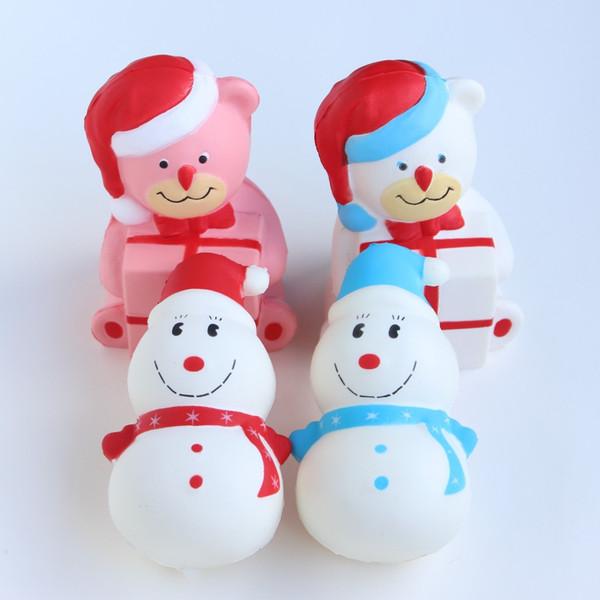 Squishy Langsam Steigende 12cm Kawaii Weihnachtsgeschenk Schneemann Bär Duftenden Umweltschutz Materialien Ungiftig Spielzeug Von Haolincomputer