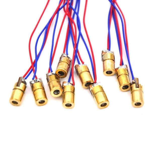 C0024 2018 NEW 10Pcs 5V 650nm 5mW Laser Red Dot Module red laser sight red laser diode pointer Hot sale