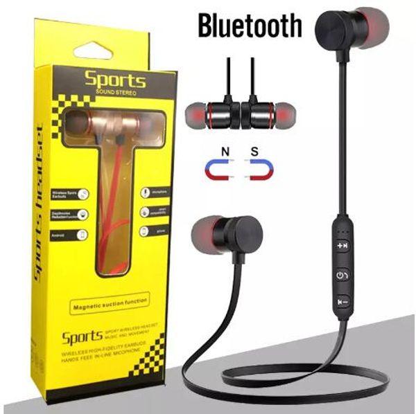 Новые магнитные Bluetooth-гарнитура Беспроводные наушники Гарнитура стерео BT4.1 Спорт