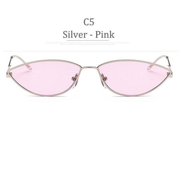 C5 Silver Frame Pink Lens