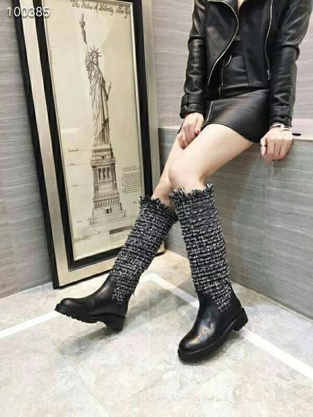 Acheter Nouveau Designer De Haute Qualité Nouvelle Botte Zippée Pour La Mode Femme Bottes Cuissardes Véritable Cuir Véritable Surpiqûres En Cuir