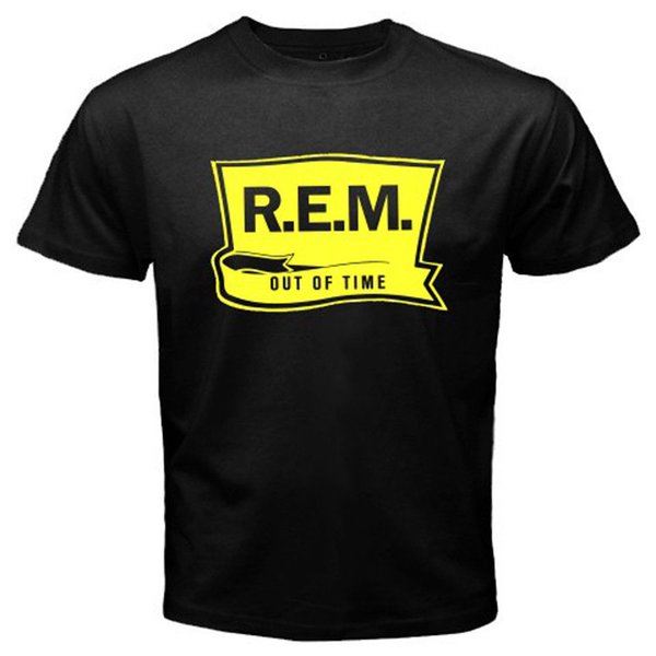New R.E.M Out Of Time Rock Band Album Cover Men/'s Black T-Shirt Size S-3XL