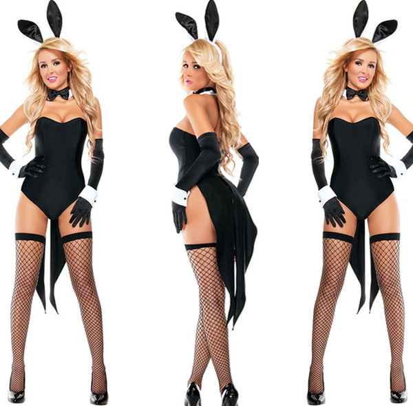 High Quality New Sexy Coser Sexy Lady Bunny Girl Lace underwear set Cosplay Uniform Women Babydoll Lingerie Ypf155