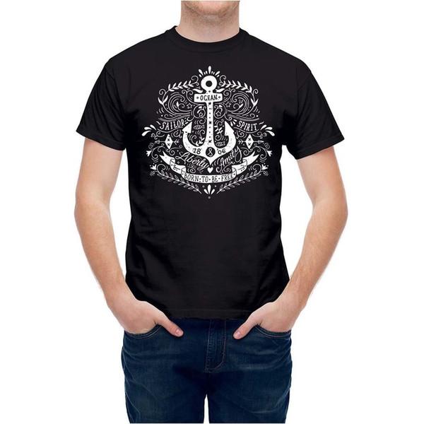 T-shirt Marinha Náutica Âncora De Vela Marinha T24783 Fresco Casual orgulho t shirt homens Unisex Nova Moda tshirt Tamanho Solto top ajax