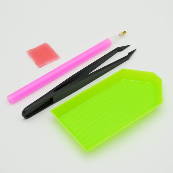 DOTS for Nail Design 1 Set DIY Dotting Tool Pencil Rhinestone Nail Manicure Tool Dotter Pencil Paste Wax Dots for DZB004